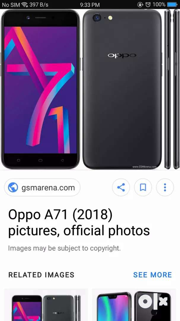 Oppo a71 for sale 0