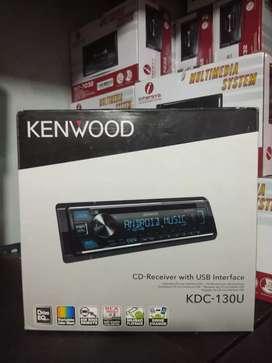 Head unit kenwood kdc 130u single din cd mp3 usb radio