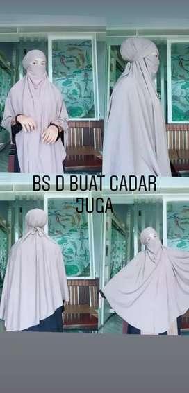 Jilbab syar'i + cadar