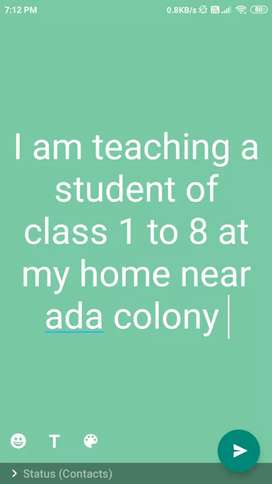 I am teaching a class 1 to class 8 students