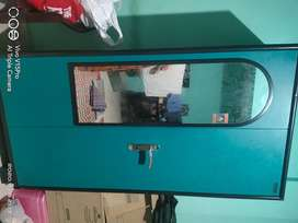 Iron Wardrobe (brand new), computer table and TV stand for sale