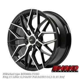 jual velg type BOTAWA 7236 HSR R15X65 H8X100-114,3 ET45 BMF-picsay
