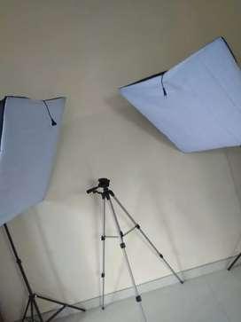 Diffuser lighting untuk studio 2 set