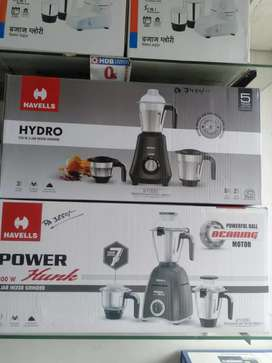 Havells power hunk mixer 800watt 2year all 3year moter Home services