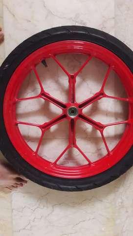 Dijual Original Velg Sonic 150r, red edition + bonus ban balap