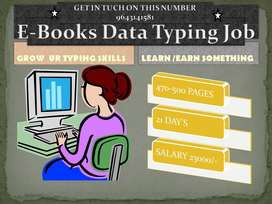 Data Entry E-Books Typing in offline | 23k salary | it's fixed