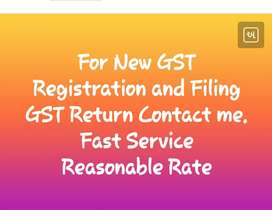 For new Gst registration and Gst filing contact