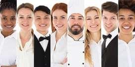 urgent requirement cook/helper/waiter/peon