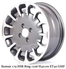 Jual Velg HSR Kuman Ring 15 Untuk Mobil Nissan March