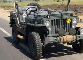 Willy open army look jeep