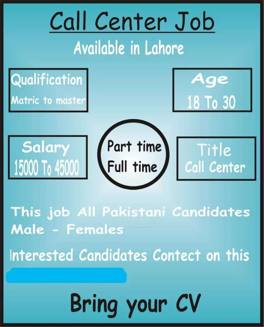 Call center Jobs in Lahore for boys and girls 0