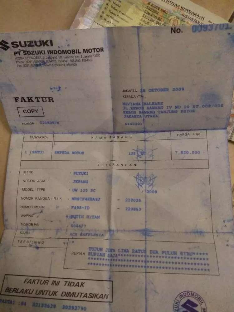 Skywave 2009 surat lengkap stnk BPKB faktur
