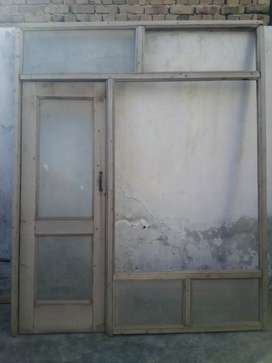 Used door for shop  . 6 1/2 width and 8ft height for sale
