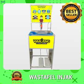 Wastafel Portable Injak Logo Resto