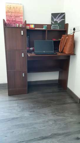 Wooden workstation/ Study table with storage