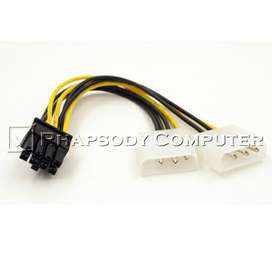 Kabel Power VGA 8 Pin to Molex 4 Pin Cabang
