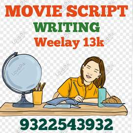 Movie script writing work from home weekly 13000 salary