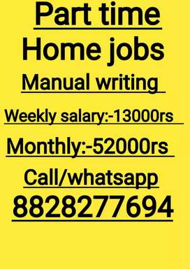 Writing job.
