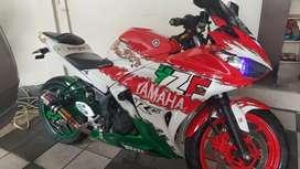 Yamaha R25 modif bisa TT dgn motor matic