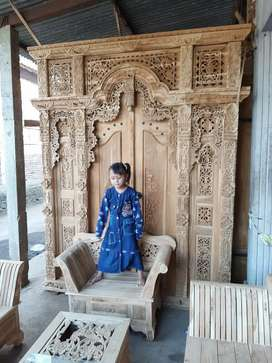 indah  kusen pintu gebyok gapuro jendela rumah masjid musholla jati