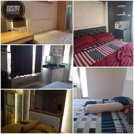 Sewa Educity Harian/Mingguan 1 br furnish apartemen lokasi stategis