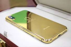 Iphone X 24kt gold plated  (telemart)