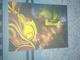 Painting in canvas board