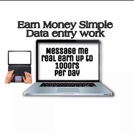 Earn Money By filling data on mobile or PC