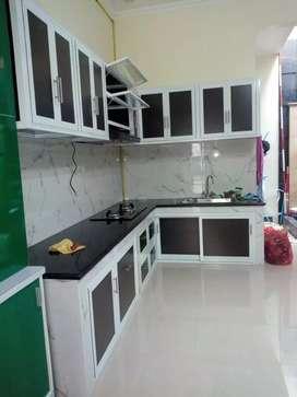Kitchen set alumunium dan kaca