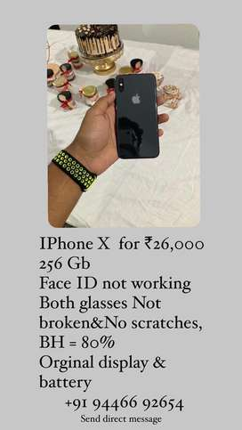 Iphone x 256 GB for ₹26,000