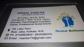 Mental wellness- consulting & counseling professional services