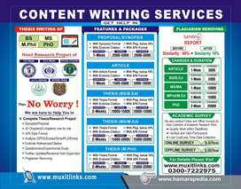 Thesis Writing & Plagiarism Remover