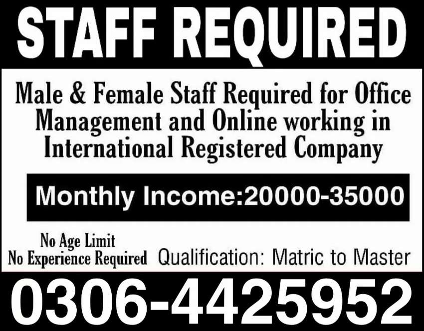 Part time,Full time,Home Based Online job for Males,females,students 0