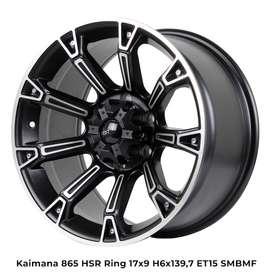 velg mobil model  KAIMANA 865 HSR R17X9 H6X139,7 ET15 SMB-MF