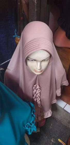 Hijab bergo bahan adem