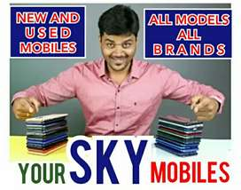 Exchange New Mobile Used Mobile All Model All Brand at SKY MOBILES