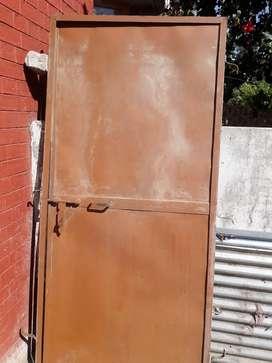 Frame with door iron