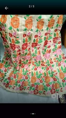 Full embroidery silk lahenga choli