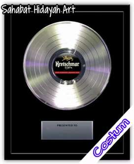 Platinum Record award tipe gaya 12 custom replika