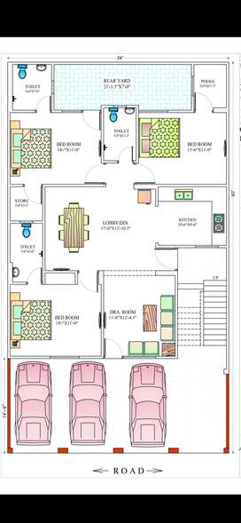 Lonable 4bhk floor, well quality build , on main road