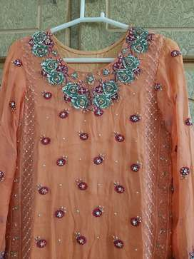 3pc Chiffon suit for party wear