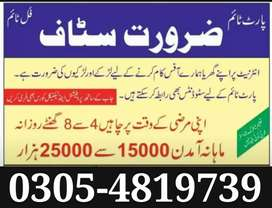 Online Office Base / JoBs Vacancies Available in Lahore