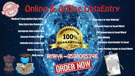 online/offline home based data entry work monthly payment