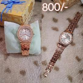 Rose Pink Sports Lady Wrist Watch just in 800/-