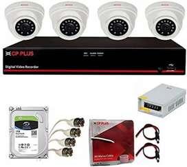 4 channal cctv camera full setup