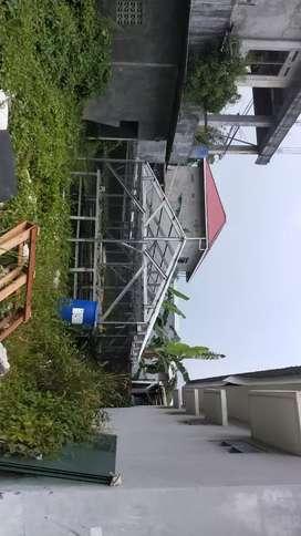Rak + atap hidroponik 1 set besar kapasitas produksi