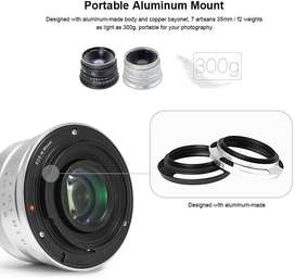 7artisans 25mm F1.8 Manual Focus Fixed Lens for Sony E-Mount Cameras-A