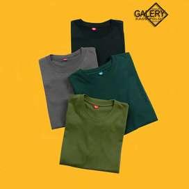 Kaos Polos Bahan Cotton,Combat 100 dapat 3
