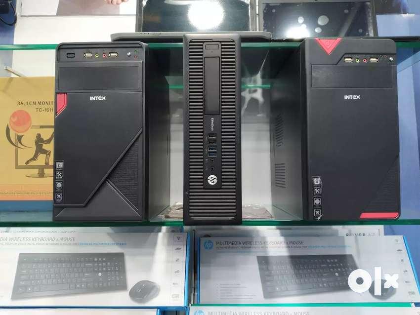 HP DELL INTEX INTEL DESKTOP COMPUTER 4 GB RAM 500 GB HDD 0