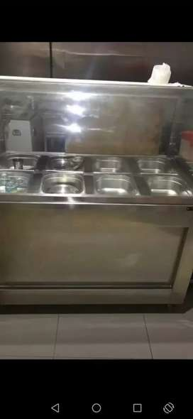 Stainless steel  counter and  steel  rack